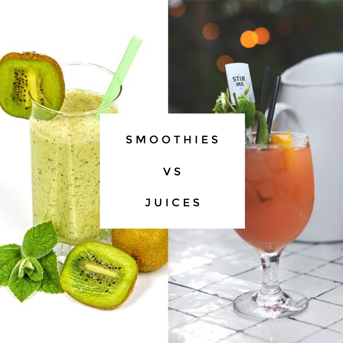 smoothies vs juices