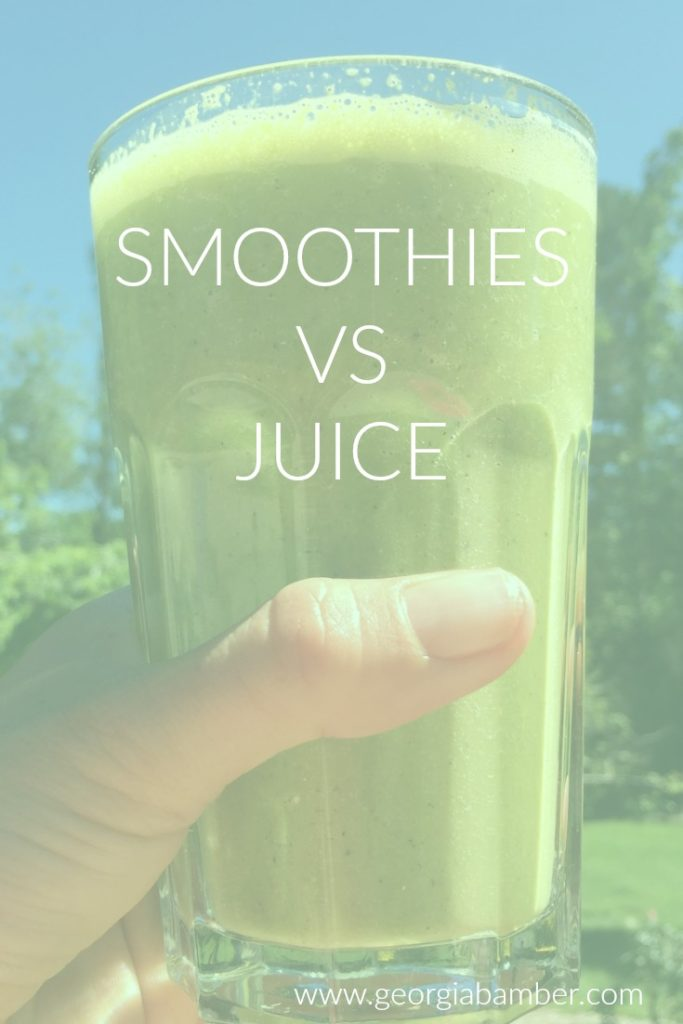 smoothie vs juice