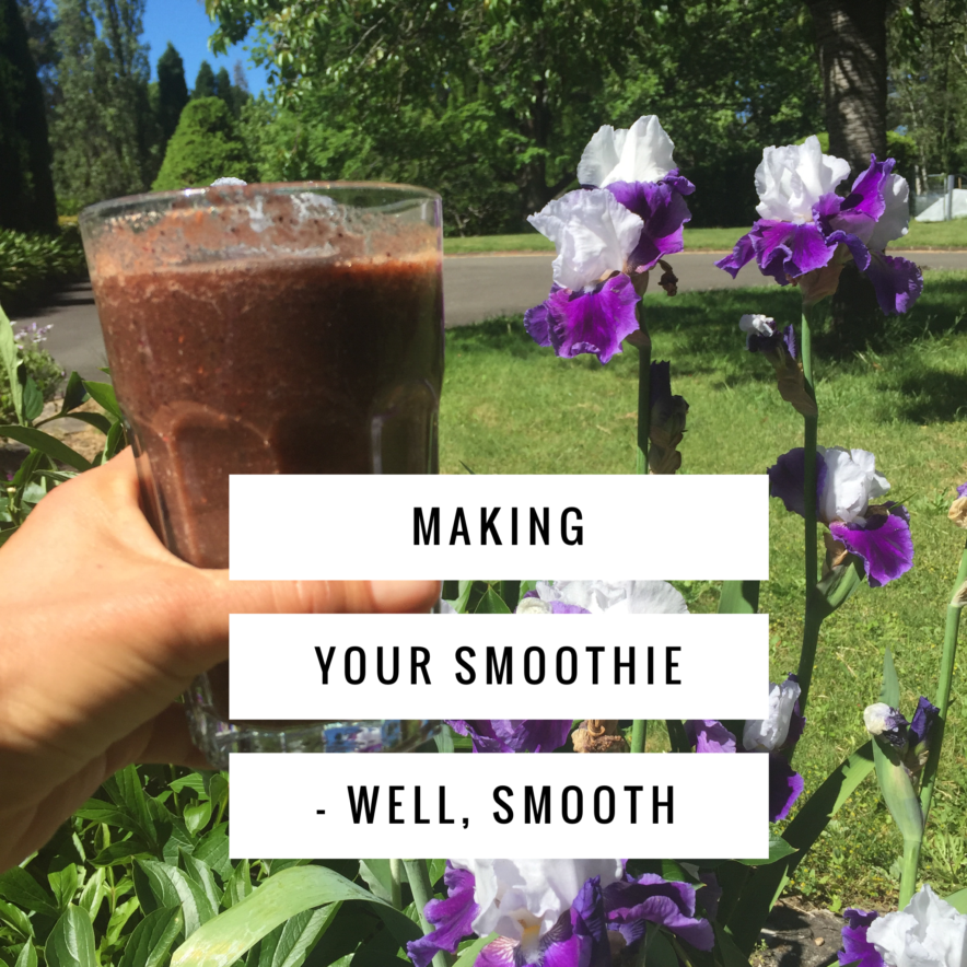 Making your smoothies, well, smooth